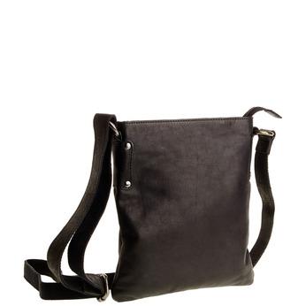 Skórzana torba listonoszka bata, czarny, 964-6113 - 13