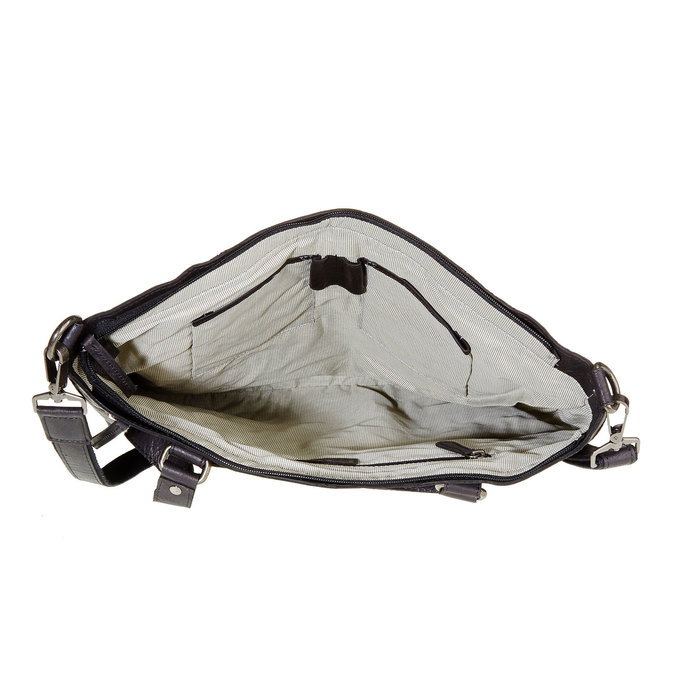 Skórzana damska torebka bata, czarny, 964-6132 - 15