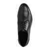 Skórzane półbuty męskie zpodeszwą w nieformalnym stylu bata, czarny, 824-6728 - 19