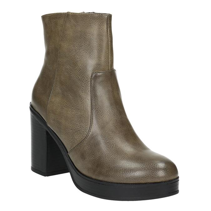 Botki na szerokim obcasie bata, brązowy, 791-3601 - 13