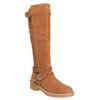 Skórzane kozaki damskie zociepliną bata, brązowy, 593-3600 - 13