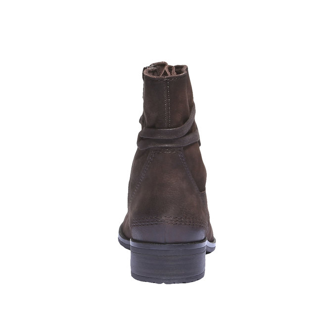 Sznurowane buty damskie ze skóry bata, 596-2100 - 17