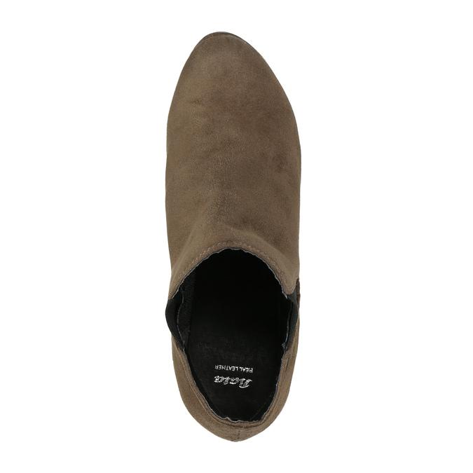 Botki na obcasie z elastycznymi wstawkami po bokach bata, beżowy, 799-2601 - 19