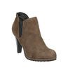Botki na obcasie z elastycznymi wstawkami po bokach bata, beżowy, 799-2601 - 13