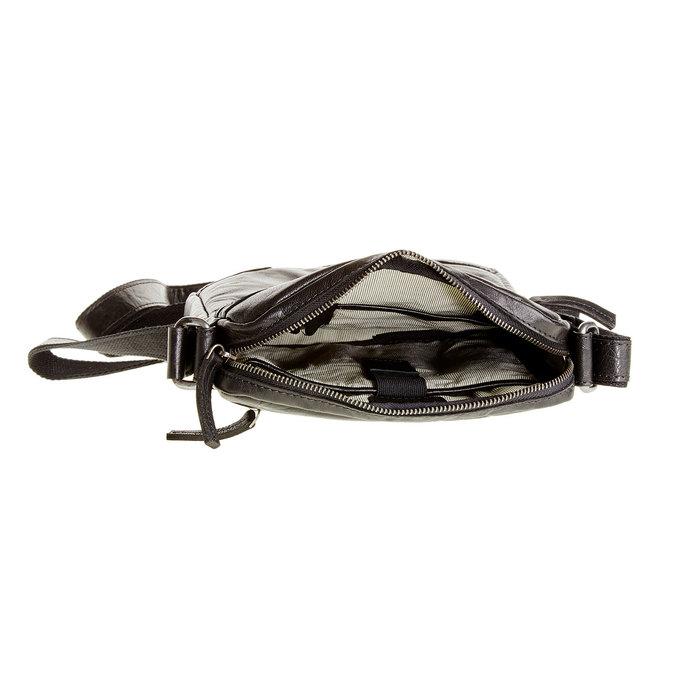 Skórzana torba Crossbody bata, czarny, 964-6180 - 15