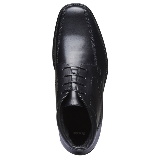 Skórzane buty za kostkę bata, czarny, 894-6242 - 19