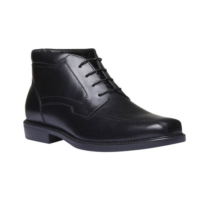 Skórzane buty za kostkę bata, czarny, 894-6242 - 13