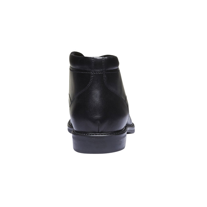 Skórzane buty za kostkę bata, czarny, 894-6242 - 17