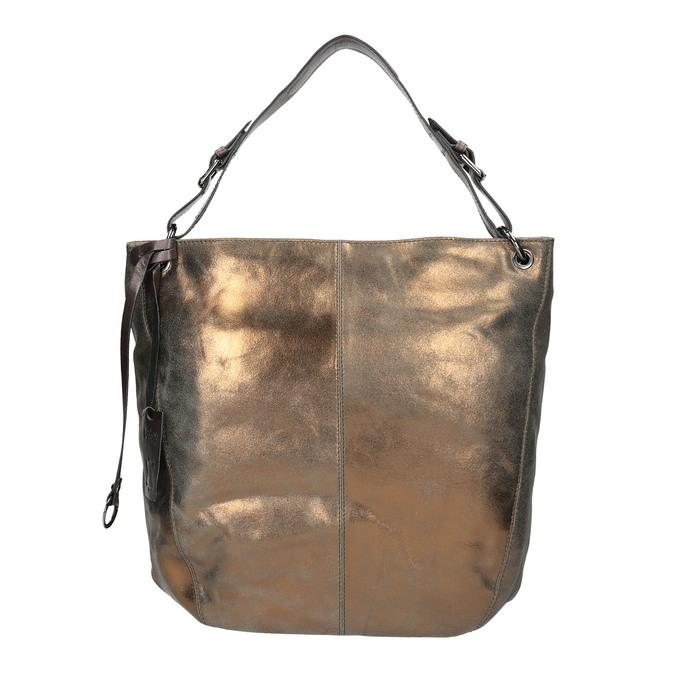 Złota skórzana torba gabor-bags, złoty, 966-8001 - 26