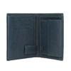 Skórzany portfel zperforacją bata, niebieski, 944-9175 - 15