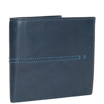Skórzany portfel zprzeszyciami bata, niebieski, 944-9176 - 13