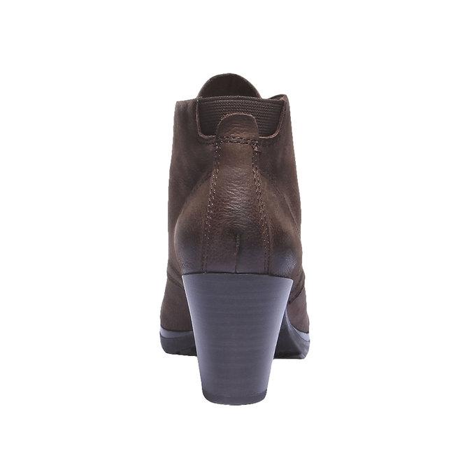 Skórzane kozaki do kostki bata, brązowy, 696-4100 - 17