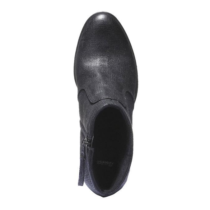 Skórzane buty do kostki bata, czarny, 796-6107 - 19