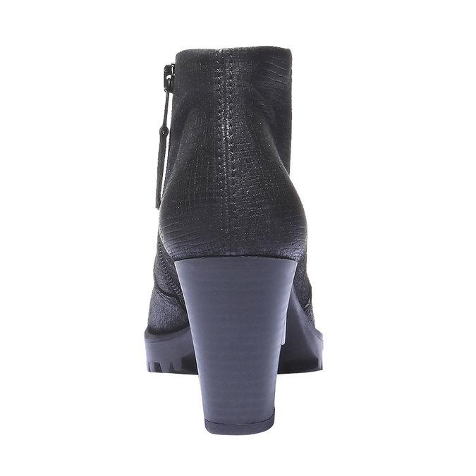 Skórzane buty do kostki bata, czarny, 796-6107 - 17