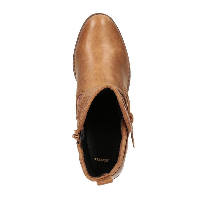Botki w stylu etno bata, brązowy, 599-4604 - 19