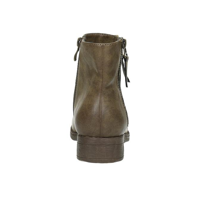 Damskie botki z zamkami bata, brązowy, 591-3612 - 17