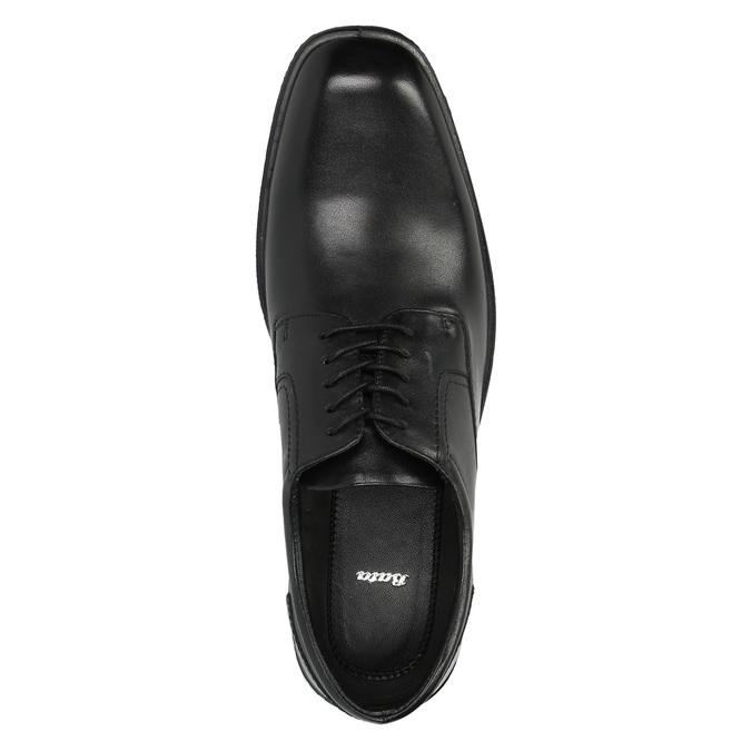 Czarne półbuty ze skóry bata, czarny, 824-6743 - 19