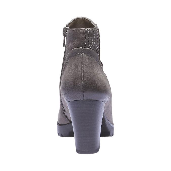 Skórzane botki bata, szary, 796-2122 - 17