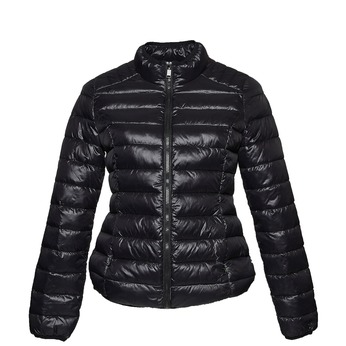 Czarna pikowana kurtka bata, czarny, 979-6637 - 13