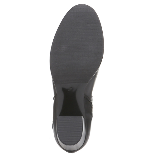 Damskie skórzane kozaki bata, czarny, 794-6447 - 18