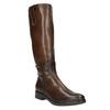 Damskie skórzane kozaki bata, brązowy, 596-3608 - 13