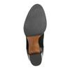 Skórzane botki zelastycznymi wstawkami po bokach bata, czarny, 696-6644 - 26
