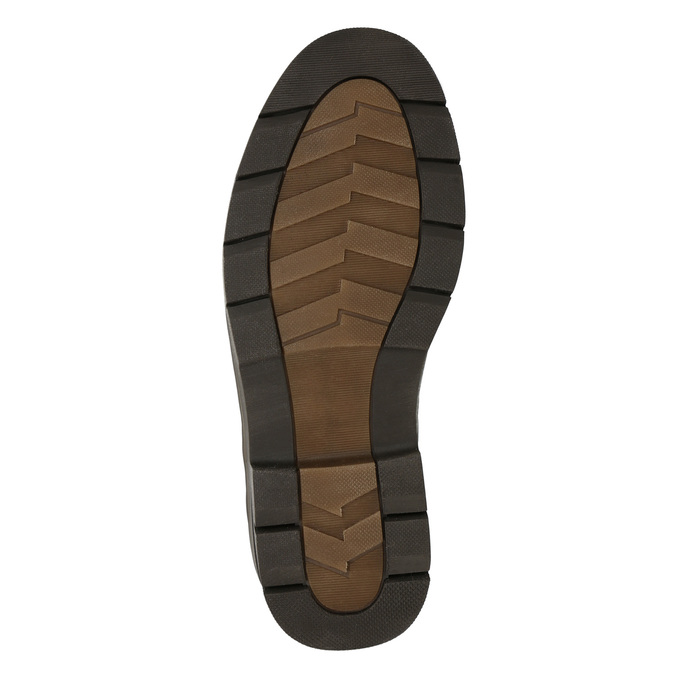 Skórzane półbuty w swobodnym stylu na wyrazistej podeszwie bata, brązowy, 824-4698 - 19