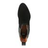 Skórzane botki zelastycznymi wstawkami po bokach bata, czarny, 696-6644 - 19