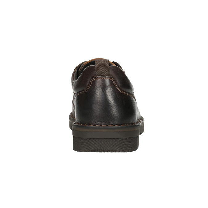 Skórzane półbuty w swobodnym stylu na wyrazistej podeszwie bata, brązowy, 824-4698 - 17