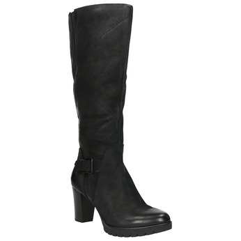 Kozaki damskie bata, czarny, 796-6601 - 13