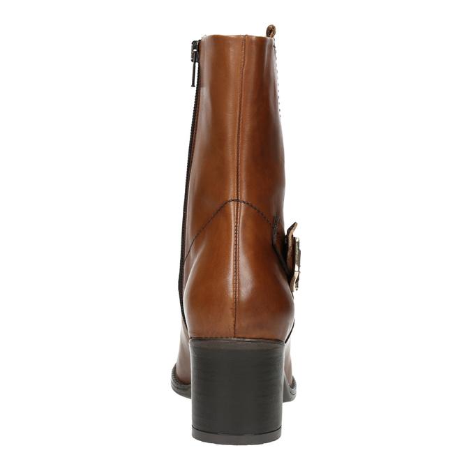 Botki damskie ze skóry bata, brązowy, 694-3359 - 17