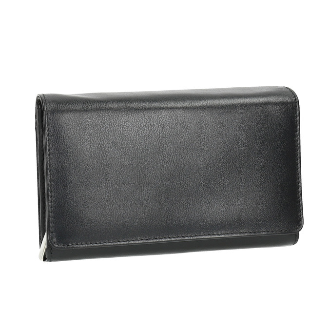 Skórzany portfel damski bata, czarny, 944-6168 - 13