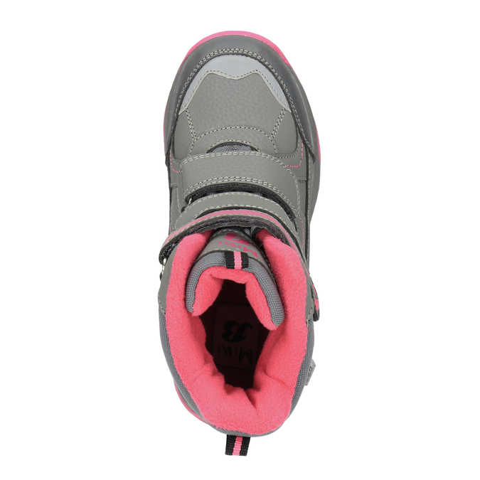 Dziecięce buty zimowe mini-b, szary, 391-2100 - 19