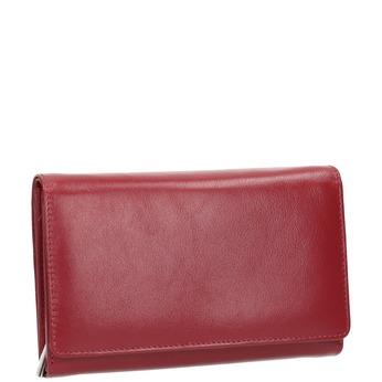 Skórzany portfel damski bata, czerwony, 944-5168 - 13