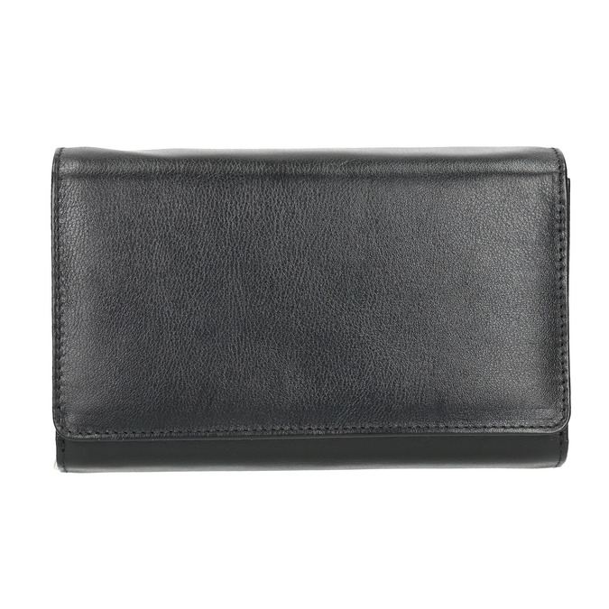 Skórzany portfel damski bata, czarny, 944-6168 - 26