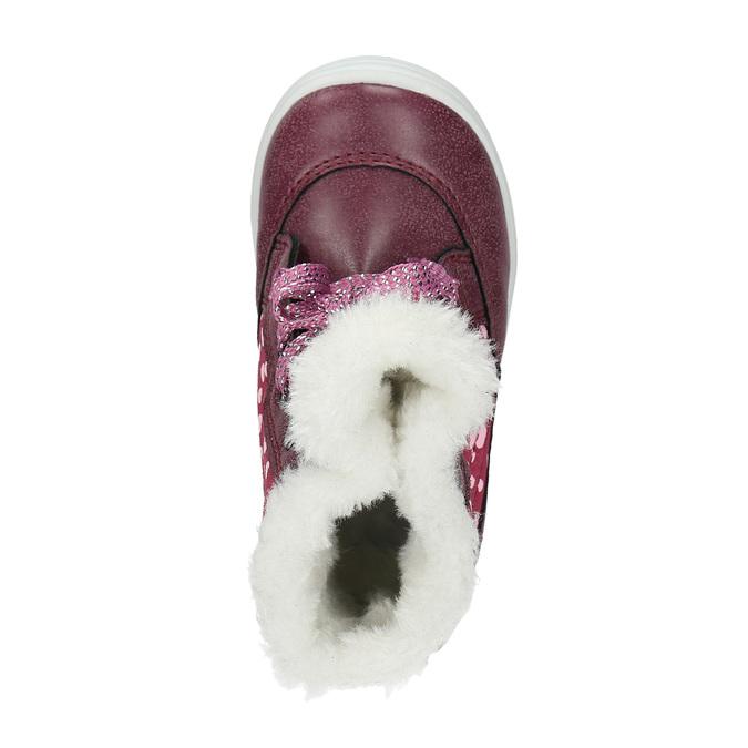 Zimowe buty dziewczęce zfuterkiem bubblegummer, czerwony, 199-5600 - 19