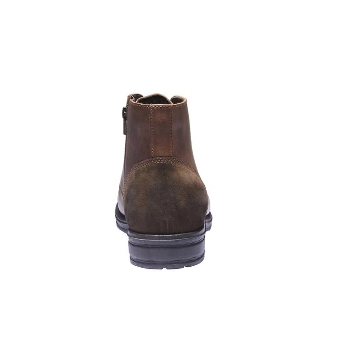 Skórzane buty na co dzień bata, brązowy, 894-3555 - 17