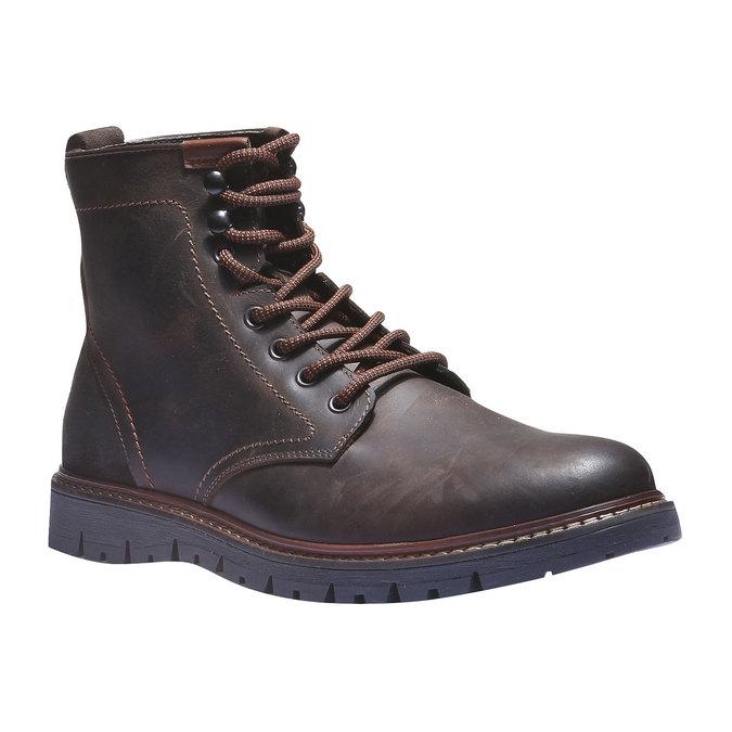 Skórzane botki bata, brązowy, 894-4360 - 13