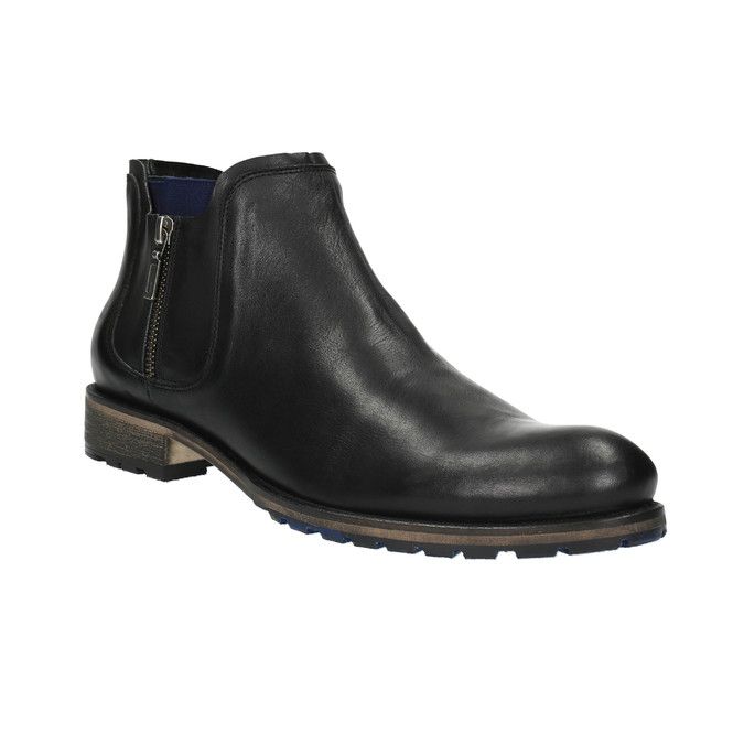 Męskie buty o długości do kostki bata, czarny, 894-6656 - 13
