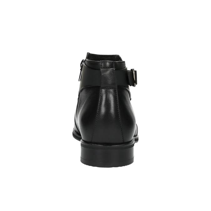 Skórzane buty za kostkę zklamrami conhpol, czarny, 894-6680 - 17