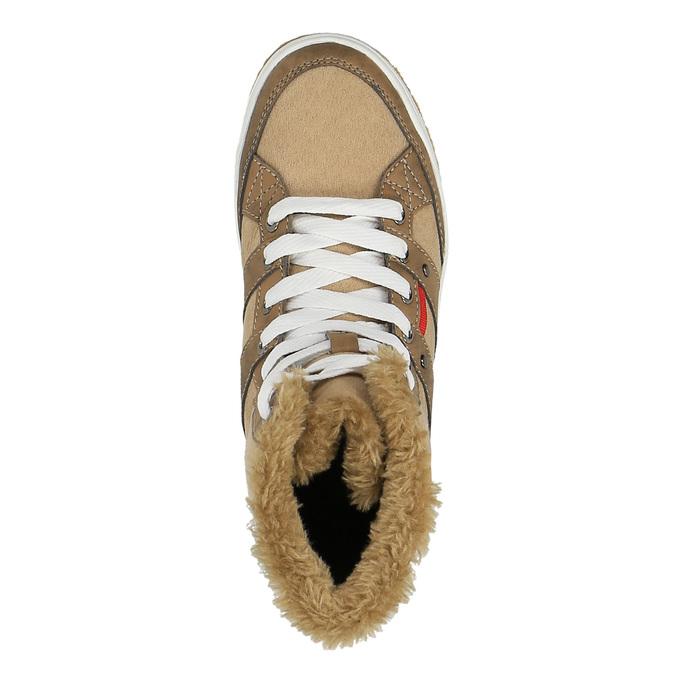 Botki damskie zfuterkiem bata, brązowy, 599-4606 - 19