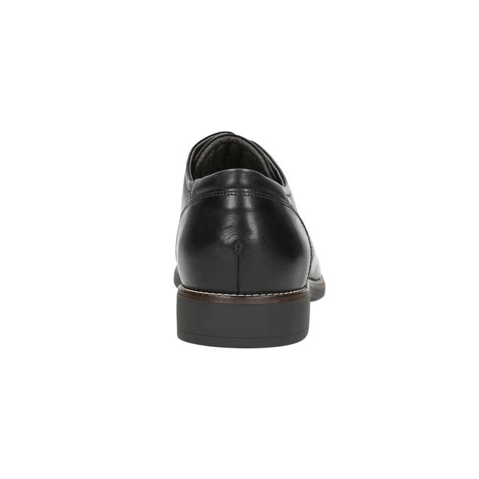 Skórzane półbuty w stylu Derby, czarny, 824-6616 - 17