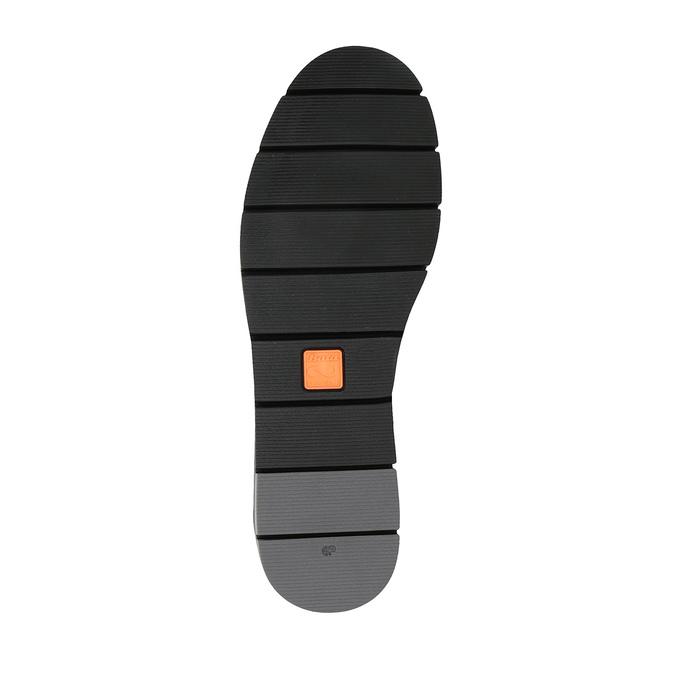 Czarne skórzane slip-on damskie flexible, czarny, 514-6252 - 26