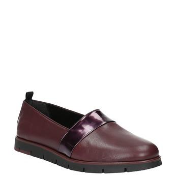 Damskie skórzane buty Slip-On w bordowym kolorze flexible, czerwony, 514-5252 - 13