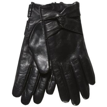 Damskie skórzane rękawiczki bata, czarny, 904-6109 - 13