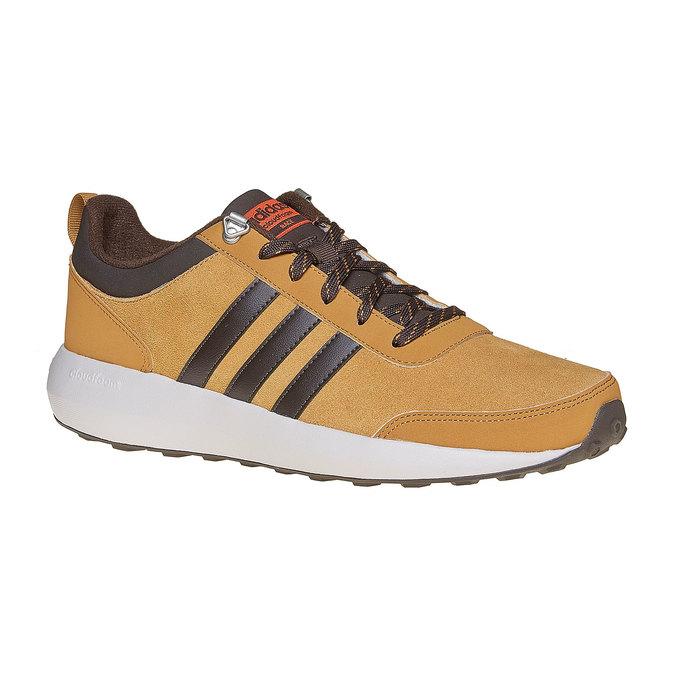 Męskie skórzane buty sportowe adidas, brązowy, 803-3893 - 13