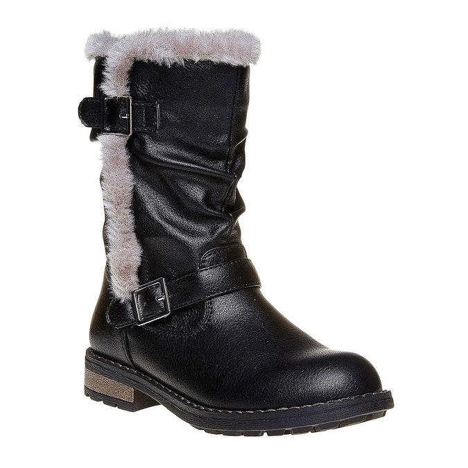 Dziecięce zimowe kozaki mini-b, czarny, 391-6245 - 13