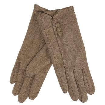Damskie rękawiczki z guziczkami bata, brązowy, 909-3405 - 13