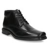 Skórzane ocieplane buty za kostkę bata, czarny, 894-6640 - 13