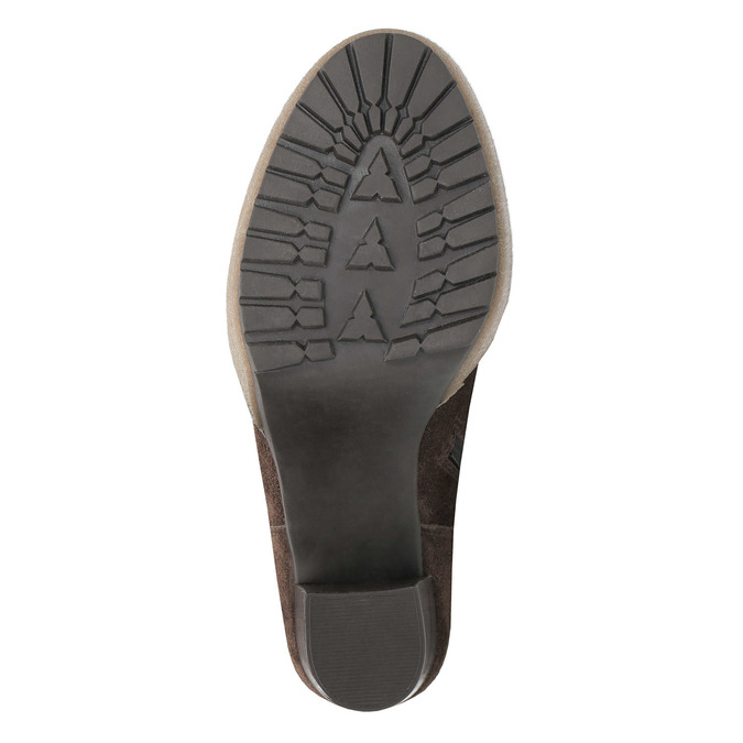 Botki z futrzanym mankietem manas, brązowy, 793-4604 - 26